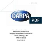 DARPA Call For Disruptive Capabilities for Future Warfare Tactical Technology Office