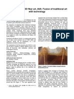 Grown Microbial 3D fiber art, AVA
