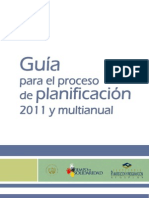 Guia Para El Proceso de Planificacion 2011 y Multianual