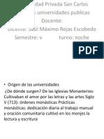 Administracion Saul Rojas