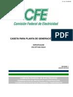 CFE CPTT DIC-CGD-01 Caseta para Planta de Generación Tipo Diesel