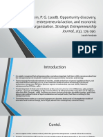 """Review of """"Opportunity Discovery, Entrepreneurial Action, and Economic Organization"""""""