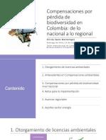 Compensaciones por pérdida de biodiversidad en Colombia