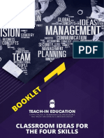 Booklet Teach in Education Classroom Ideas for the Four Skill