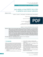 [Open Medicine] Reliability and Validity of the EORTC QLQ-C30 in Palliative Care Cancer Patients
