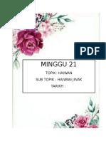 MINGGU 21 (HAIWAN JINAK).doc