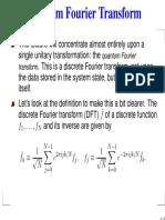 Quantum Fourier Transform