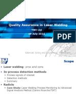 Paola de Bono - Quality Assurance in Laser Welding