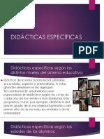 DIDÁCTICAS-ESPECÍFICAS