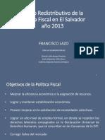 Efecto redistributivo politica fiscal 2013