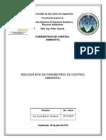 Bibliografía de Parámetros Ambiental