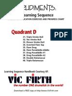 Rudiment Sequence Handbook and Progress Chart Vic Firth PDF QD