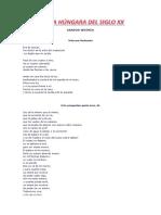 POESÍA HÚNGARA DEL SIGLO XX (PARTE 1)