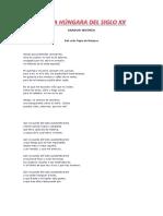 POESÍA HÚNGARA DEL SIGLO XX (PARTE 2)