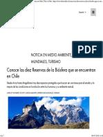 Conoce Las Diez Reservas de La Biósfera Que Se Encuentran en Chile _ This is Chile