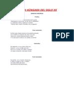 POESÍA HÚNGARA DEL SIGLO XX (PARTE 3)
