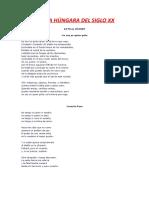 POESÍA HÚNGARA DEL SIGLO XX (PARTE 4)