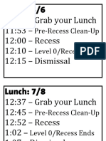 KIPP DC Northeast Academy Lunch Signs