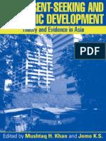 Mushtaq H. Khan, Kwame Sundaram Jomo-Rents, Rent-Seeking and Economic Development_ Theory and Evidence in Asia-Cambridge University Press