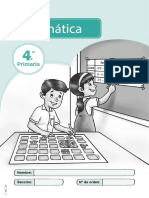 Cuadernillo Modelo de Matemática 4p