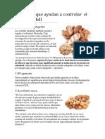 Alimentos Que Ayudan a Controlar El Colesterol Hdl