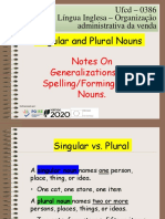 Ufcd 0386 -Plural Nouns Generalizations Compounds