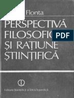 13. Mircea Flonta - Perspectiva Filosofica Si Ratiune Stiintifica