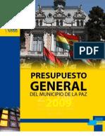 Presupuesto General del Municipio de La Paz 2009