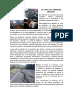 La Tierra y Los Desastres Naturales