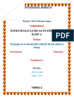 Tarea 3 de Estrategia Ludica en La Educacion Basica