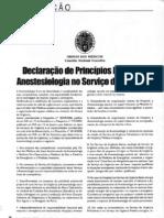 Declaração de Princípios Equipa de Anestesiologia no Serviço de Urgência