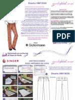 Instrucciones de Costura de los Moldes de Pantalon Dockers Classic Fit 2 pliegues hm1303d.pdf