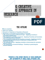 Applying Creative Thinking in Research