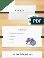 Seccion I, II, Introduccion a La Auditoria