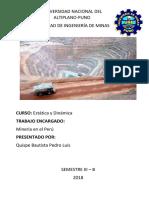 Minería en El Perúa