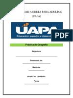Práctica de Geografía No. 1 UAPA