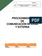 Proc. Comunicacion Interna y Externa