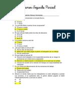 Examen parcial Derecho Laboral
