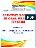 Oral Reading Frontpage
