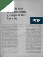 Scannone La situación actual de la iglesia Argentina y la imagen de Dios Uno y Trino