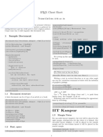 Latex Cheat Sheet