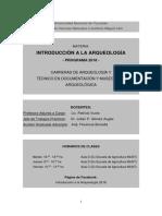 Programa Introducción a La Arqueología 2018