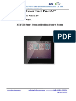 K35 Touchpanel Manual