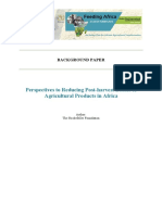 Agriculture Industrialization and Post-harvest Losses
