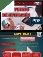 Cahuapaza Presupuesto de Operacion