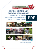 CREACIÓN DE UNA  UNIDAD DE SERVICIOS DE APOYO A LA EDUCACIÓN REGULAR.doc