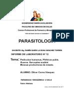 parasitología ácaros