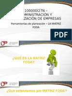 2018-2-5 QUINTA SEMANA_Herramientas de planeación_La matriz FODA (1).pptx