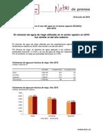 Encuesta sobre el uso del agua en el sector agrario (EUASA). Año  201 6