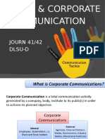 Public Corporate Communication